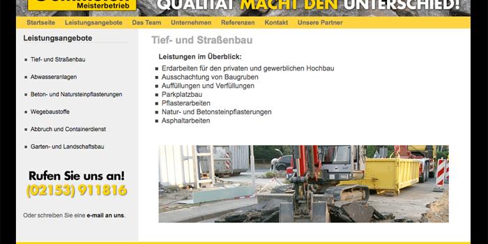 Webseite Oemmelen GmbH