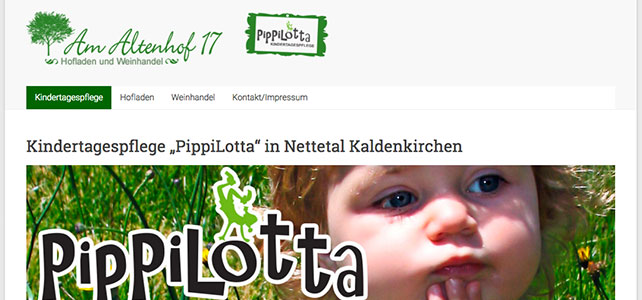 Webdesign & -services: Relaunch www.AmAltenhof17.de