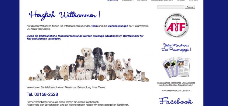 Neue Inhalte & Eyecatcher auf den Seiten vom Tierarzt