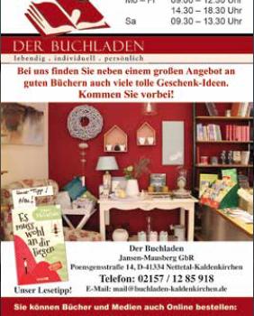 """Anzeigengestaltung für """"Der Buchladen"""""""