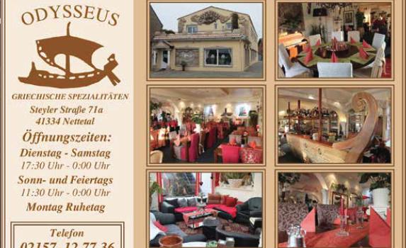 """Anzeige für """"Restaurant Odysseus"""""""