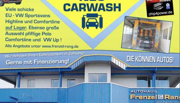 Neue Anzeige für CAR WASH bei Frenzel und Rang